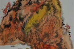 Orangene Landschaft